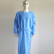 Level 4 non woven plastic fluid resistant disposable barrier gown