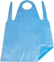 Kitchen sink blue disposable PE apron