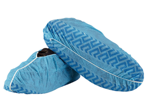 Waterproof anti skid blue non woven medical shoe cover