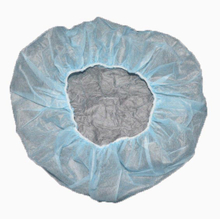 Plastic disposable bouffant surgical caps for surgeon