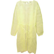 Level 2 yellow disposable barrier surgical gown