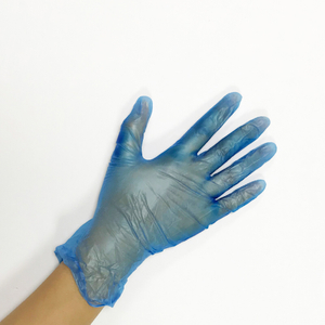 Small size lightly powdered disposable essentials vinyl gloves