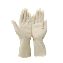 Milky white sterile premium powdered latex surgical gloves