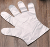 High performance clear disposable polyethylene gloves for food service