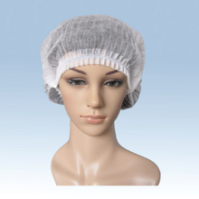 White non woven disposable hair net bouffant cap