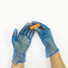 Food grade smooth touch powder free blue vinyl gloves