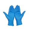 Small blue chemical resistance disposable nitrile examination gloves