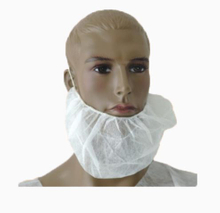 Extra large white disposable non woven beard cover for large beards