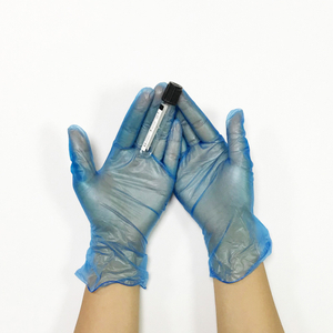 Large size chemical resistance powdered vinyl disposable gloves
